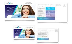 Create Postcard In Word Dentist Postcard Template Word Publisher