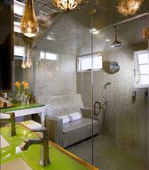 view in gallery cozy seating inside the steam shower