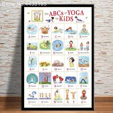 Butterfly Alphabet Chart Us 1 98 27 Off Posters And Prints New Yoga Chart Astanga Abc Alphabet Chart For Child Study English Poster Wall Art Picture Room Decoration In
