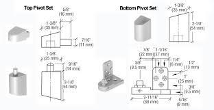 us aluminum style offset door pivots