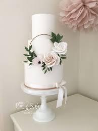 Elegant Fancy Wedding Cake Designs Copper Blush Sugar Floral Hoop Wedding Cake Floral