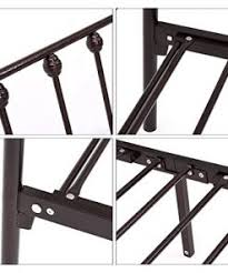 Home Recommend Metal Bed Frame Queen Iron Platform with Headboard and Footboard