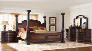 King Size Bedroom Suits North Shore California King Canopy Bed In Dark Wood Size Bedroom