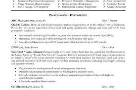 chef resume format sample sample resume for chef