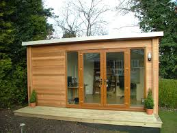 home office garden building. Home Garden Office With A Flat Roof And UPVC French Doors Built In The UK By Building -