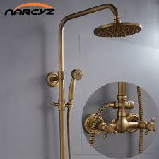 Copper shower fixtures Brass Taps Europeanstyle Retro Antique Copper Shower Shower Set Shower Tub Shower Faucet Xt305 Aliexpress European Style Retro Antique Copper Shower Shower Set Shower Tub