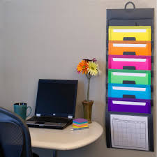 wall mounted office organizer system. Amazon.com : Smead Cascading Wall Organizer, 6 Pockets, Letter Size,  Gray/Bright (92060) Office Products Wall Mounted Office Organizer System T