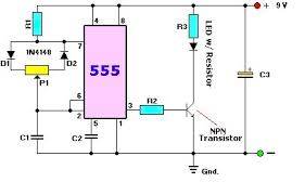 led dimmer circuit electronics forums what i need help determining are the values of the capacitors resistors transistor diodes and potentiometer i d like the circuit to be variable about