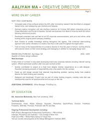 Art Director Resume Profile Professional Resume Templates