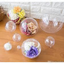 clear plastic bath mold set craft plastic ornaments hollow ball fillable diy bath s ornament wedding decoration deco