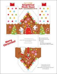 87 Best Printies Mini Gingerbread Houses Images Diy Christmas