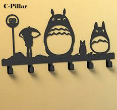 6 Hook Wall Coat Rack 100 Colors Funny Cartoon Decor Rack Hanger Hook Wall Coat Hooks Iron 80