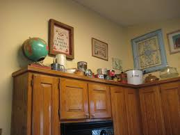 Above Kitchen Cabinet Decorations With Above Kitchen Cabinet Decorating  Ideas Mybbstar
