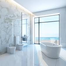 modern bathroom furniture sets. Bathroom, Appealing Bathroom In White Nuance Oval Porcelain Bathtub Bidets Modern Furniture Sets