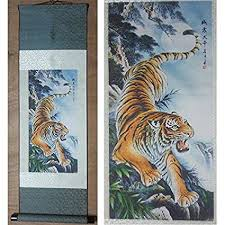 chinese tiger drawing. Brilliant Tiger NWFashion Ancient Chinese Tiger Drawing Priting Silk Painting Hanging  Tiger 2 To S