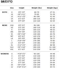 Billabong Boys Size Chart 44 Proper Wet Suit Size Chart