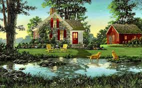 Nature Wallpaper With House - 1440x900 ...