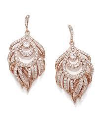 emelia statement earrings in rose gold