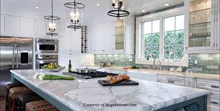 White Cabinets With White Marble Counter From Inspectstonecom Countertops N50