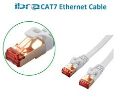 ibra® 15m cat7 high speed computer router gold plated plug stp cat7 rj45 ethernet lan networking cable professional gold headed network cable high speed premium quality cat 7 patch ethernet router lan 15