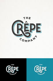 Crepes Logo Design Hip And Simple Typography Logo For The Crepe Company Design