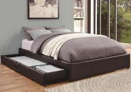 image of diy bed frame ideas leather