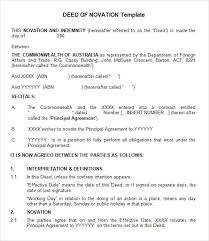 Agreement Form Doc Custom 48 Free Sample Novation Agreement Templates To Download Sample