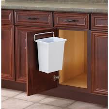 Kitchen Waste Bin Door Mounted Real Solutions For Real Life 13 In H X 10 In W X 7 In D Plastic