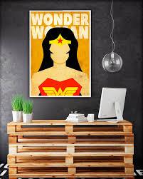 Wonder Woman Poster Superhero Posters Wonder Woman LogoWonder Woman Home Decor