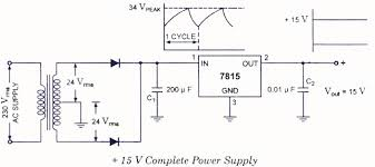 circuit diagram v dc power supply the wiring diagram fixed positive voltage regulators electronic circuits and wiring diagram