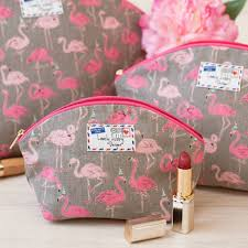 flamingo gift flamingos party makeup toiletry wash bag