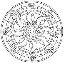 Mandala Disegno Da Colorare Gratis 42 Con Cavallucci Marini