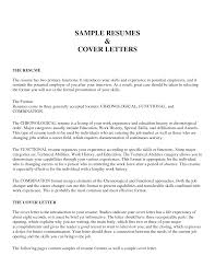 Examples Of Cover Letters Generally 2 Samples Letter