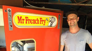 Vending Machine In French Interesting The 'Mr French Fry' Hot Chip Vending Machine Dates Back To 48 And