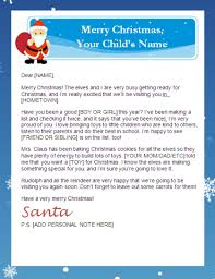 Printable Letter Templates Printable Santa Letters Personalized Printable Letters From Santa