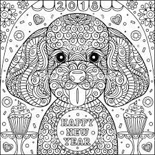 Schattige Puppy Kleurplaat Stockvectorkunst En Meer Beelden Van 2018