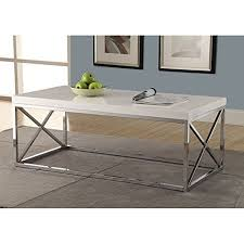 monarch metal cocktail table glossy