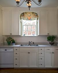 inspired window cornice technique richmond traditional kitchen decoration ideas with blue and white kitchen chandelier frame