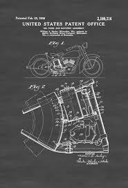 harley oil tank patent 1938 harley davidson art patent print wall decor motorcycle decor harley patent harley bike mypatentprints