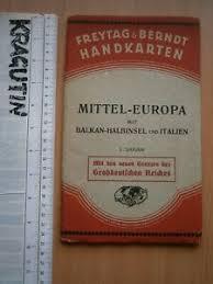 Details About Mittel Europa Balkan Halbinsen Italien Chart Map Book Freytag Berndt Handkarten