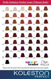 Wella Red Colour Chart 8 Best Wella Hair Color Images Hair Color Hair Hair