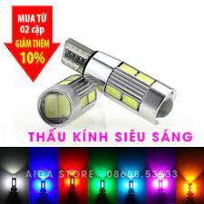 Cặp (02 bóng) đèn led demi, xi nhan thấu kính siêu sáng T10 10SMD 5630