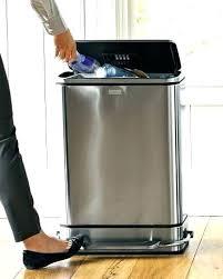 30 Gallon Trash Can Walmart Gallon Kitchen Trash Can Stainless Steel Trash  Can Gallon Plastic Kitchen .