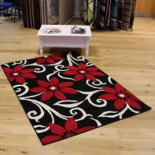 red and black rugs decor