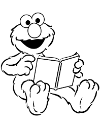 Small Picture elmo reads a book coloring pagegif 670867 Coloring Pages