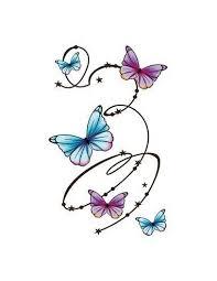 Kroužící Motýli Velké Nalepovací Tetování