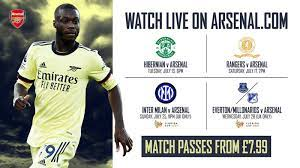 pre-season matches live on Arsenal.com ...