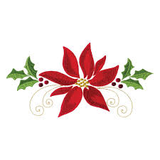 Poinsettia Designs Poinsettias And Pine Boughs Embroidery Designs By Amazing Designs On A Multi Format Cd Rom Adp 75j