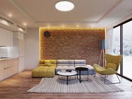 the brick living room furniture. Living Room Brick Pavers Feature Wall Design For Exposed Fireplace Ideas The Furniture
