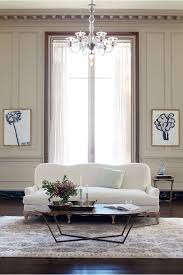 chic living room. Linen Claribel Sofa Chic Living Room